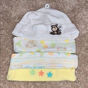 Other - Bundle of 4 infant hats 0-6 months